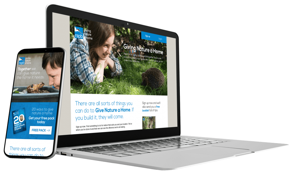 RSPB Give Nature a Home by BoldLight