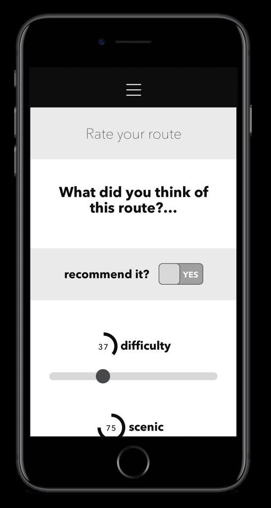 RSPB innovation app screen