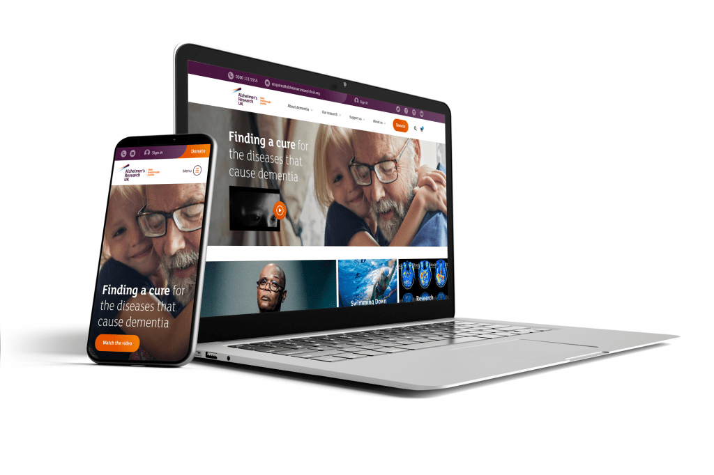 Alzheimer's Research UK website by BoldLight